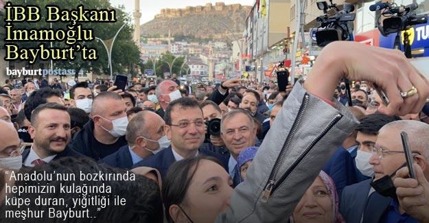 İstanbul Büyükşehir Belediye Başkanı Ekrem İmamoğlu Bayburt'ta
