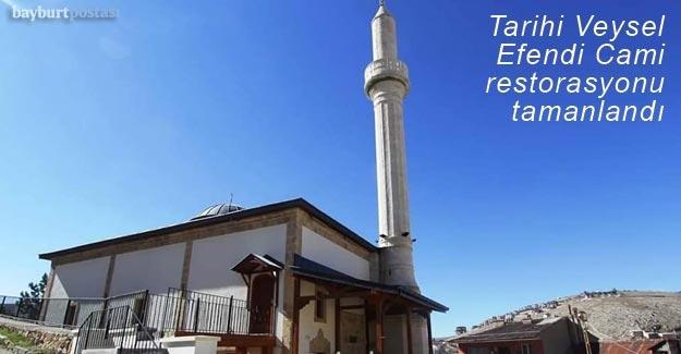 Restorasyonu tamamlanan Veysel Efendi Cami ibadete açıldı