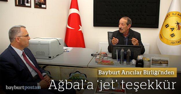 Arıcılar Birliği'nden Ağbal'a jet teşekkür