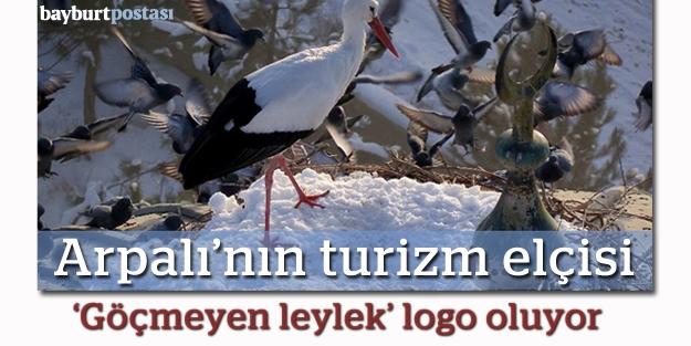Arpalı'nın yeni logosu 'göçmeyen leylek'