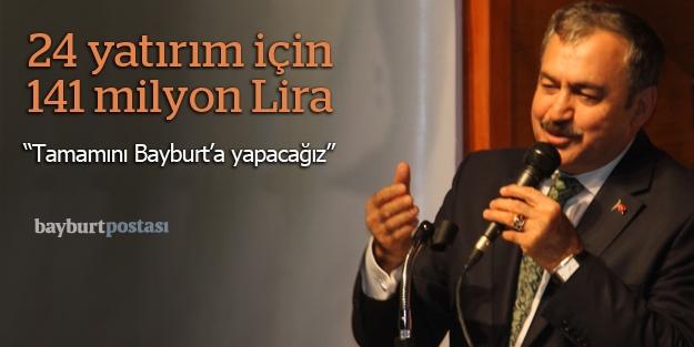 Bakan Eroğlu, Bayburt'taydı