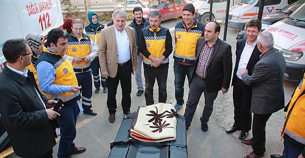 Bayburt 112'ye dört yeni ambulans