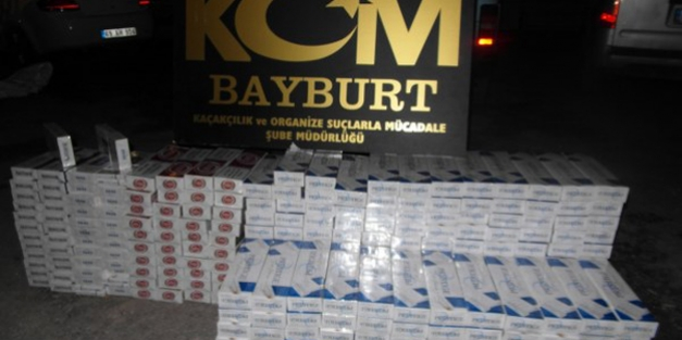 Bayburt'ta kaçak sigara operasyonu