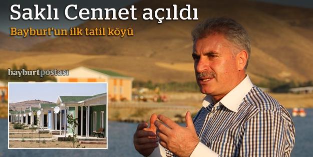 Bayburt'un ilk tatil köyü açıldı