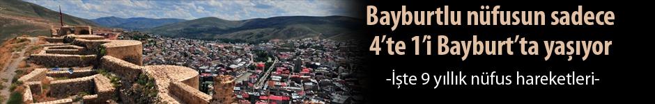 Bayburtlu nüfusun, yüzde 75.8'i Bayburt dışında yaşıyor!