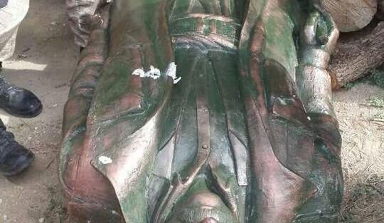 Diyarbakır'a dikilen o heykel kaldırıldı