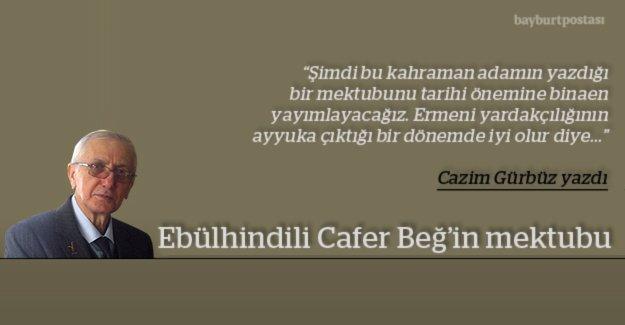 Ebülhindili Cafer Beğ'in mektubu