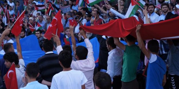 Erzurumlular Filistin ve Doğu Türkistan için yürüdü