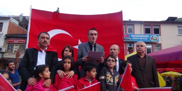 Gümüşhane'de 'Bayrağa Saygı' yürüyüşü düzenlendi