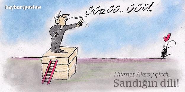 """Hikmet Aksoy çizdi: """"Sandığın dili!"""""""
