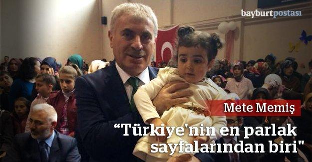 """Memiş: """"Türkiye'nin en parlak sayfalarından biri"""""""