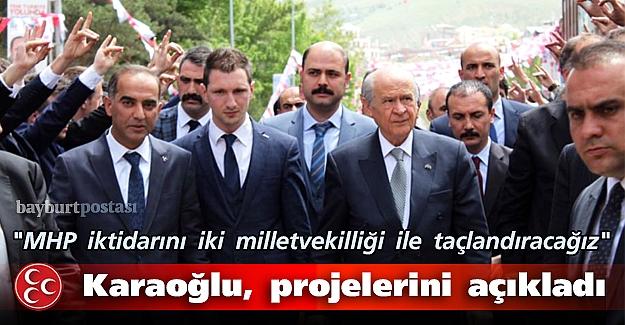 MHP adayı Karaoğlu, projelerini açıkladı