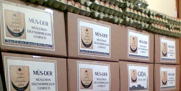MÜSDER'den gıda yardımı