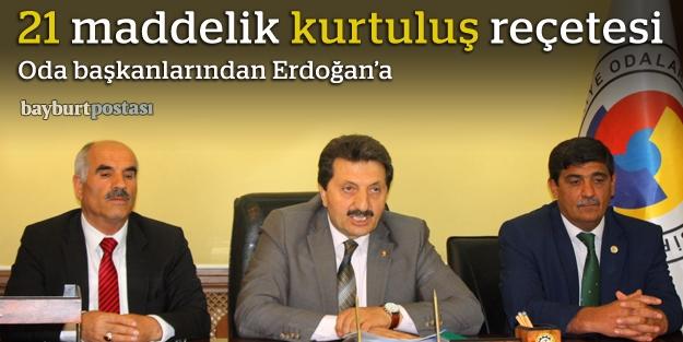 Oda başkanları, Cumhurbaşkanı Erdoğan'a dosya sunacak
