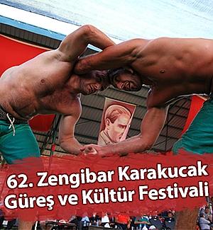 62. Zengibar Karakucak Güreş ve Kültür Festivali yapıldı
