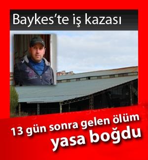Baykes'te çatıdan düşen işçi hayatını haybetti