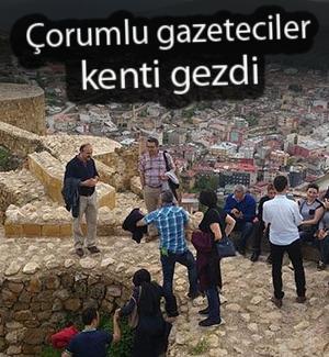 Çorumlu gazeteciler Bayburt'u gezdi