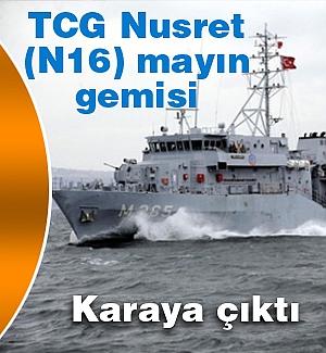TCG Nusret mayın gemisi Trabzon'da