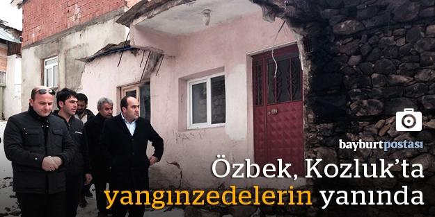 """Özbek: """"Mağdur vatandaşlarımızın yaraları sarılıyor"""""""