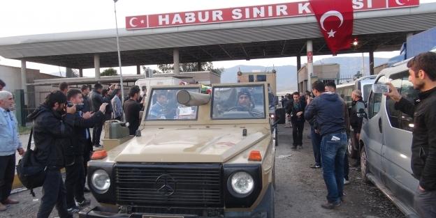 Peşmergeler, Habur'dan Türkiye'ye giriş yaptı