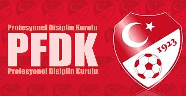 PFDK'dan taraftar ve yöneticilere ceza