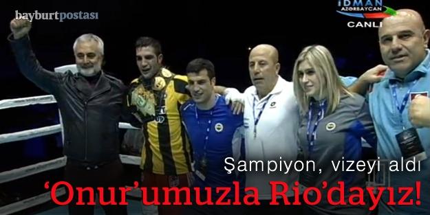 Şampiyon, Rio vizesini aldı!