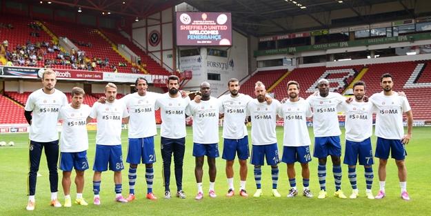 Soma yararına oynanan maçta Sheffield United, Fenerbahçe'yi 2-1 yendi