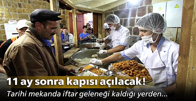Taşhan'da iftar geleneği kaldığı yerden!