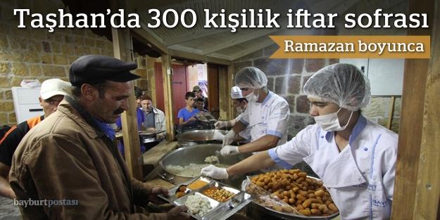Taşhan'da 300 kişiye iftar