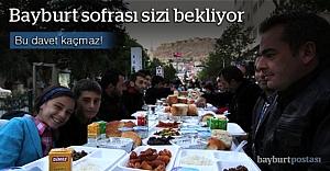 Bayburt'ta 'Ramazan Sofrası'