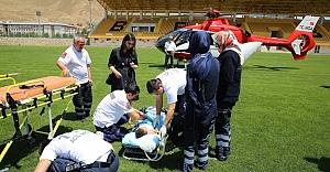 Ambulans helikopter kaç hasta için havalandı?