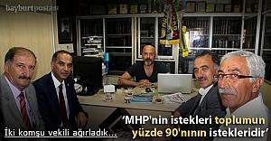 Canlı ve Karaoğlu'ndan gazetemize ziyaret
