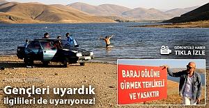 Demirözü 'plajında tehlikeli hareketler!