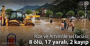 Doğu Karadeniz sele teslim: 8 ölü, 2 kayıp