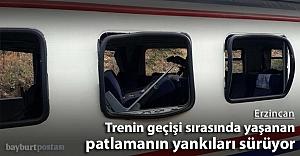 Trenin geçişi sırasında yaşanan patlamanın yankıları sürüyor