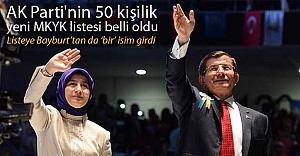 AK Parti'nin 50 kişilik MKYK listesi belli oldu