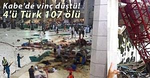 Kabe'de vinç düştü! 4'ü Türk 107 ölü