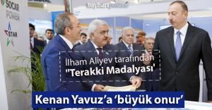 """Aliyev'den Kenan Yavuz'a """"büyük onur"""""""