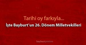 AK Parti'nin Bayburt adayları tarihi oy farkıyla seçildi!