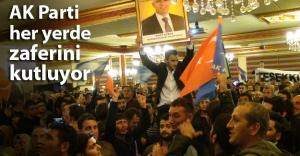 AK Parti'nin zafer coşkusu sokağa taştı