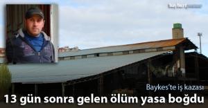 Baykes'te çatıdan düşen işçi...