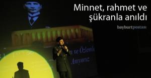 Büyük Önder Atatürk'ü özlemle andık