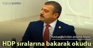 Kavcıoğlu, yeminini HDP sıralarına bakarak okudu