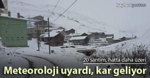 Meteoroloji uyardı, kar kapıda!