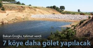 Bayburt, Gümüşhane ve Giresun'da 22 gölet yapılacak