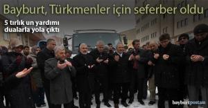 Bayırbucak Türkmenlerine 5 tırlık un yardımı