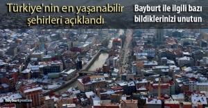 Türkiye#039;nin en yaşanabilir şehirlerine...