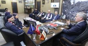 İzcilik Federasyonu'ndan Başkan Memiş'e ziyaret