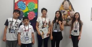 Bayburtlu öğrenciler eserleriyle Gençlik Sanat Bienal'inde