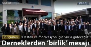 Dernekler birlik ve beraberlik mesajı verdi